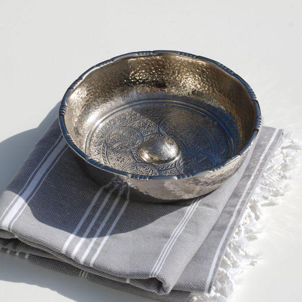 Hamamskål i silver