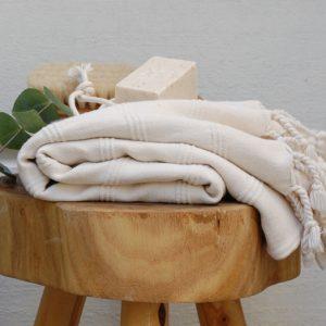Dusty white handduk