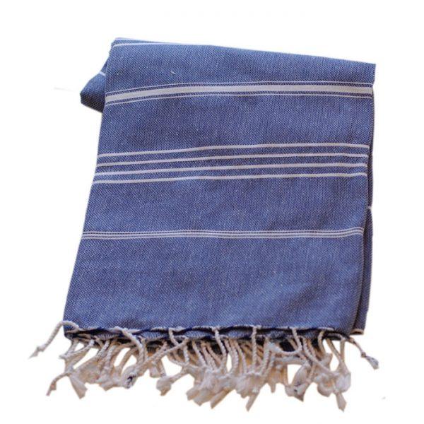 Marinblå basic hamamhandduk