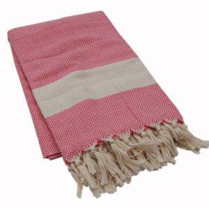 Arrow rosa pläd med hamam mönster