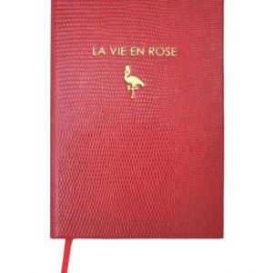 Röd anteckningsbok