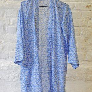 Ljusblå kimono