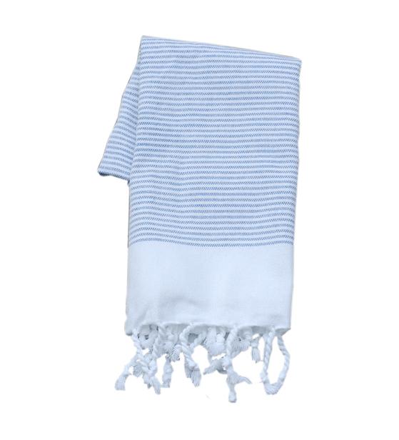 Stripy blue hamamhandddukar