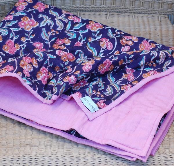 Babypläd rosa