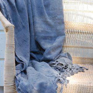 Pläd Dusty grey stor