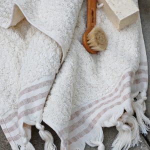 natural white liten hamamhandduk