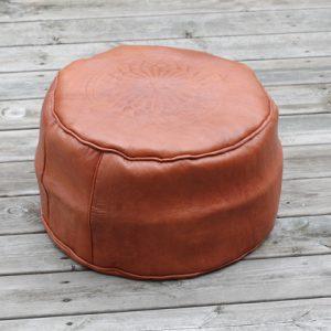 Brun läderpuff från marocko