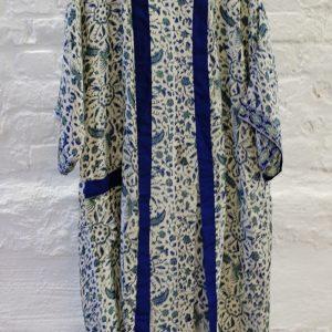 Grönblå kimono