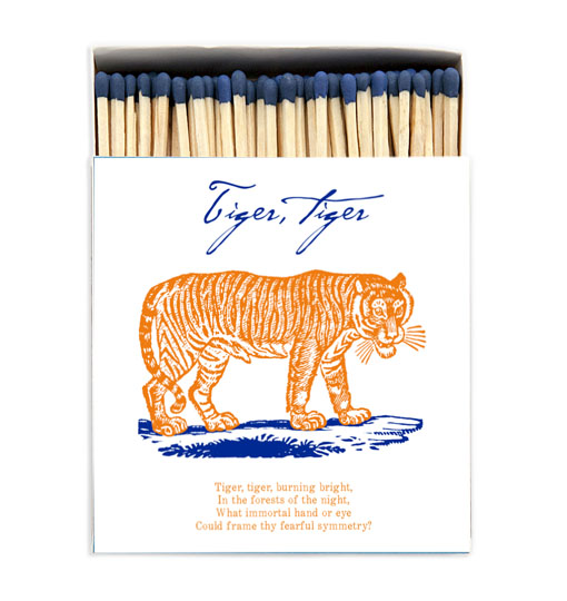 Tiger ljus tändsticksask