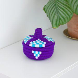 Marockansk korg i blått