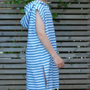 Blå poncho för barn