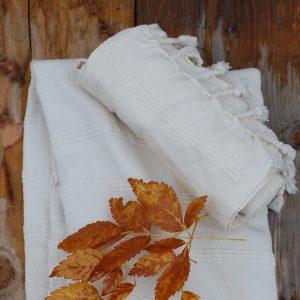 Hamamhandduk i vitt