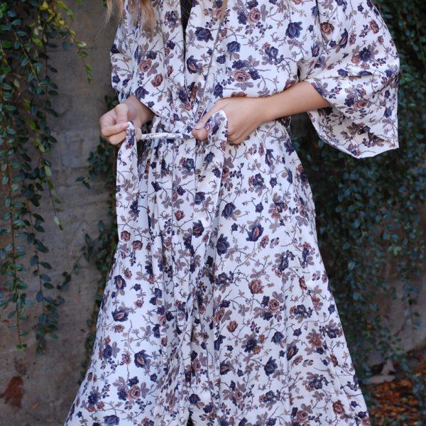 Kimono med mönster