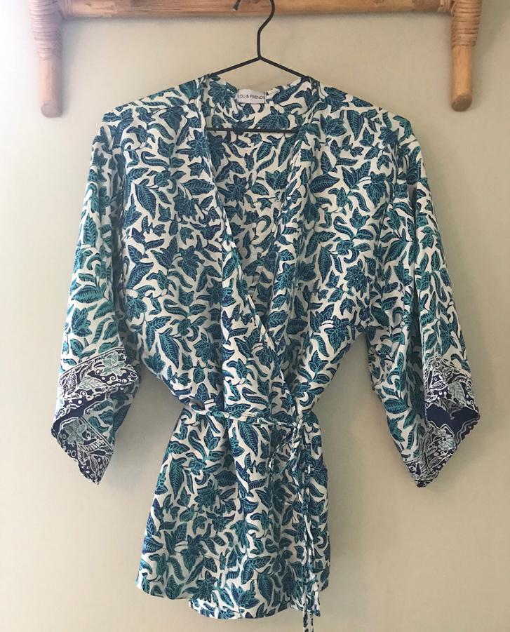 Silk blouse blue - Lou   friends cf6b370e8c3b0